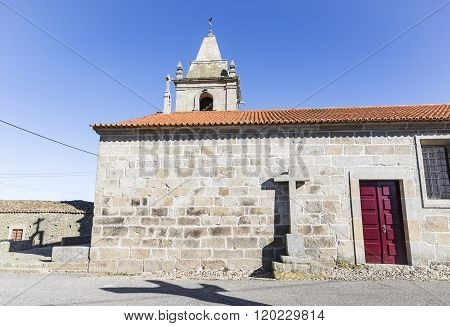 Parish Church in Sao Pedro do Rio Seco, Almeida, Guarda, Portugal