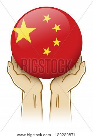 Pray For China Illustration