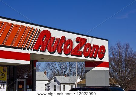 Indianapolis - Circa March 2016: AutoZone Retail Store III