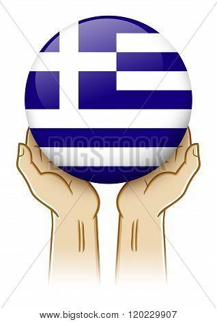 Pray For Greece Illustration