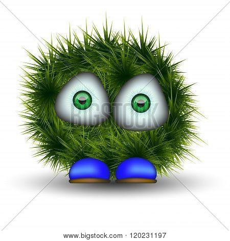 Green Shaggy Creature