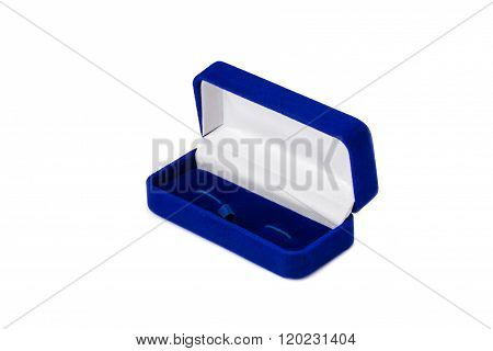 Opened Present Box For Jewerly On White Background