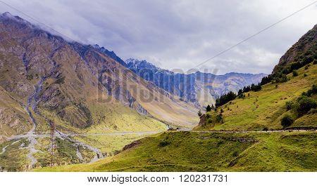 Old Georgian Roan On The Verge Of Valley