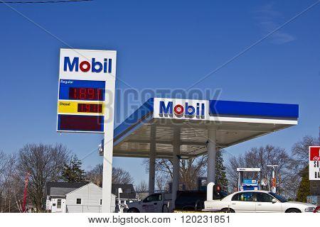 Indianapolis - Circa March 2016: ExxonMobil Retail Gas Location I