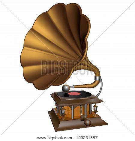 Vintage Gold  Gramophone