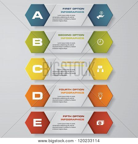 5 color of simple and editable banner/template. for your presentation and sample text. EPS 10.
