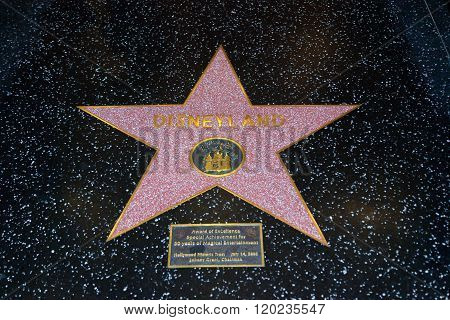 Disneyland Hollywood Star
