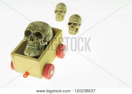 Skull On A Toy Carriage