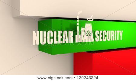 Energy generation atom station and Bulgaria flag elements