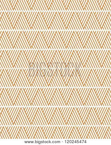 Funky vector triangle pattern in white and orange
