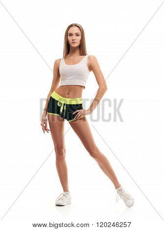 slim sporty fitness woman