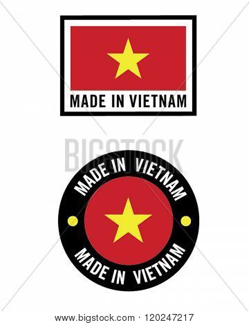 Vector Made in Vietnam Icon and Logo Set
