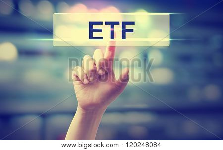 Etf - Exchange Traded Fund Concept
