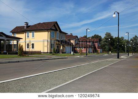 Clean, idyllic, peaceful neighborhood in America