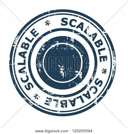 Scalable business concept stamp isolated on a white background.