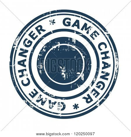 Game changer business concept stamp isolated on a white background.