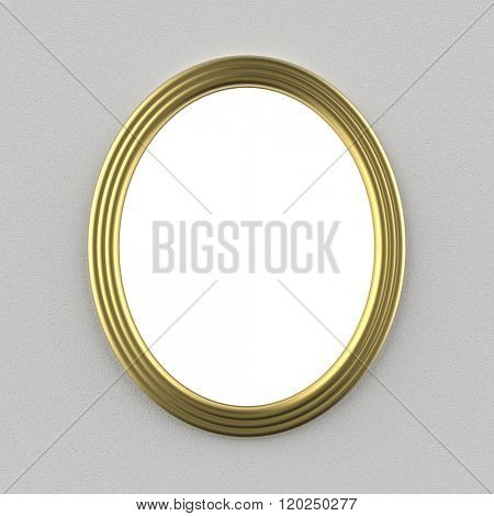 oval picture frame, 3d render