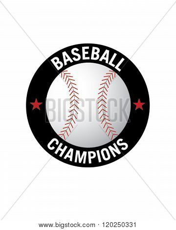 Vector Baseball Championship Badge