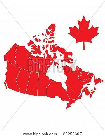 Vector Canada Map and Flag Set