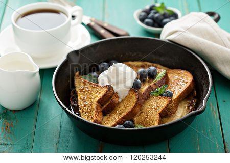 French toast with caramelized banana