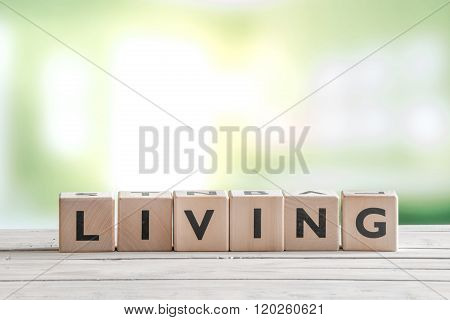 Living Word On Wooden Cubes