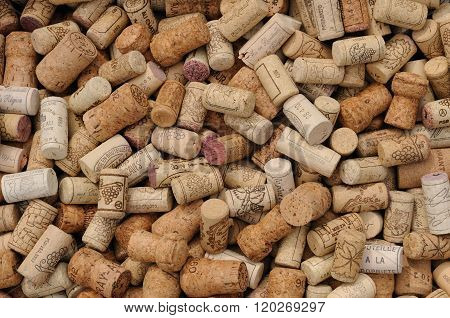 Assortment Of French Wine Corks