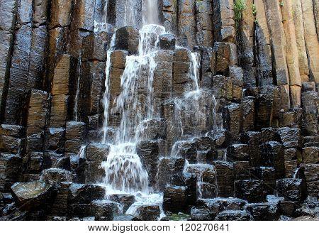 Basalt prisms in hidalgo, Mexico