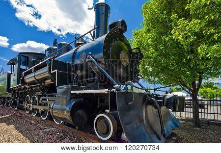 Flagstaff, U.S.A. - May 24, 2011: Arizona, an old train near the railway station.