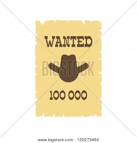 Vintage wanted poster icon