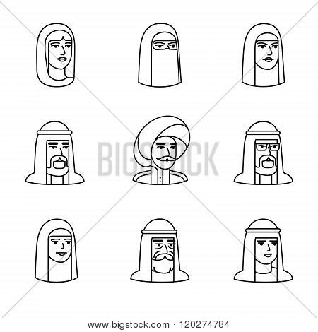 Arabic and muslim people faces