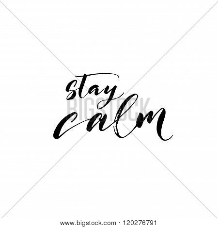 Stay Calm Card.