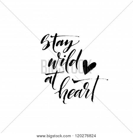 Stay Wild Dt Heart Card.