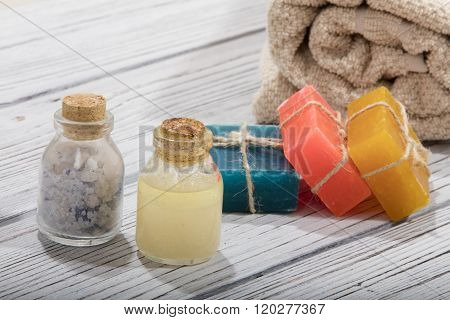 spa bath cosmetic. soap beauty treatment background