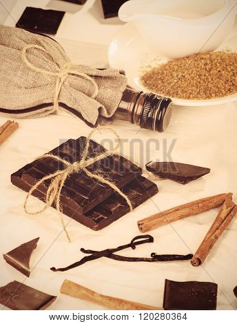 Ingredients For A Chocolate Dessert, Toning.