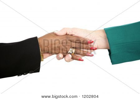 Female Business Handshake With Path