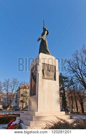 Monument Spirit Of Lovcen (1939) In Cetinje, Montenegro