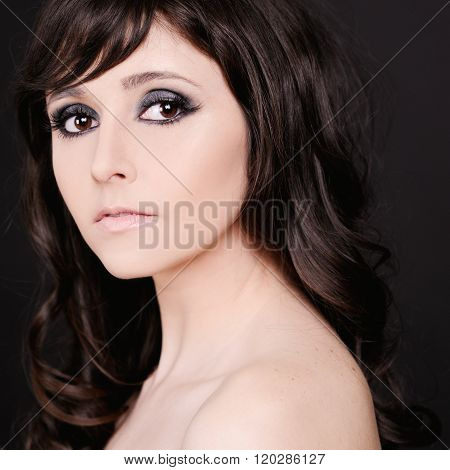 Brunette woman closeup