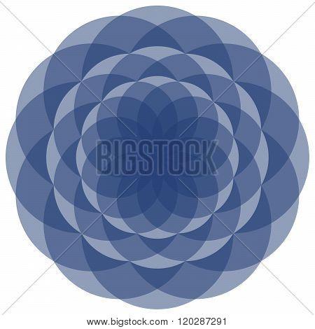 Symmetric Floral Mandala