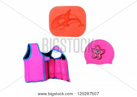 Swimming Accessory For Swimming: Swimming Cap, Life Jacket, Board