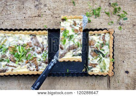 Mushroom Mozzarella Tart