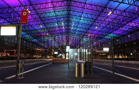 The new busstation at Schiphol-North, Amsterdam Airport