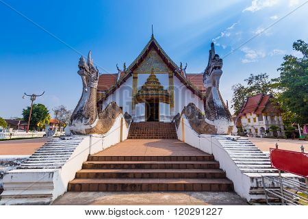 Wat Phumin Is A Unique Thai Traditional Temple Of Nan Province ,thailand