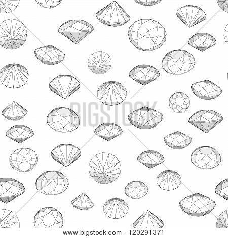 Vector set of diamond design elements