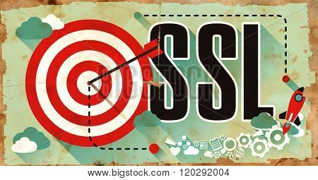 SSL on Grunge Poster.