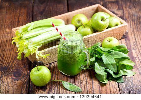 Jar Of Green Juice