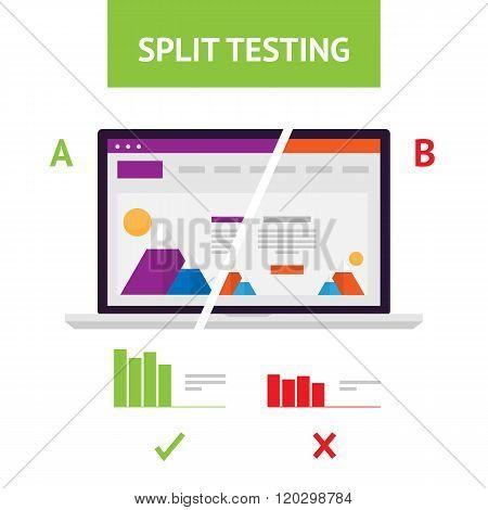 Flat AB Split Testing