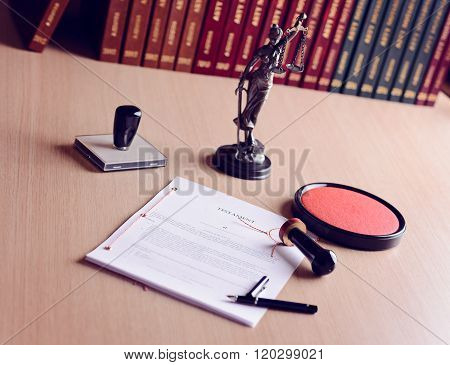 Last Will Waiting For A Notary Public Sign On Desk