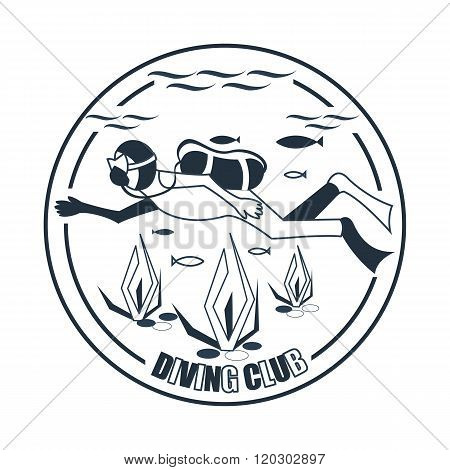 Diving club label