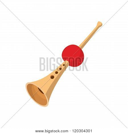 Fakir flute icon, cartoon style