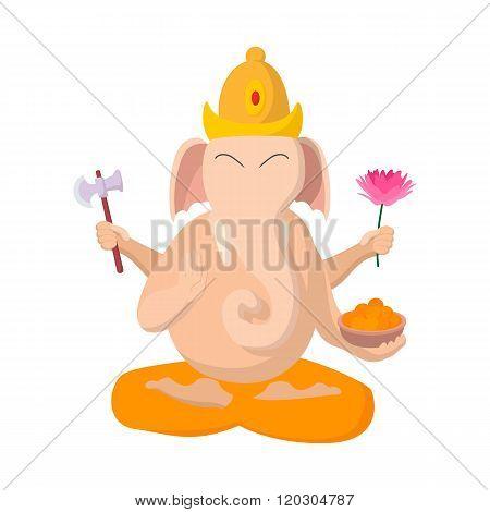 Ganesha icon, cartoon style